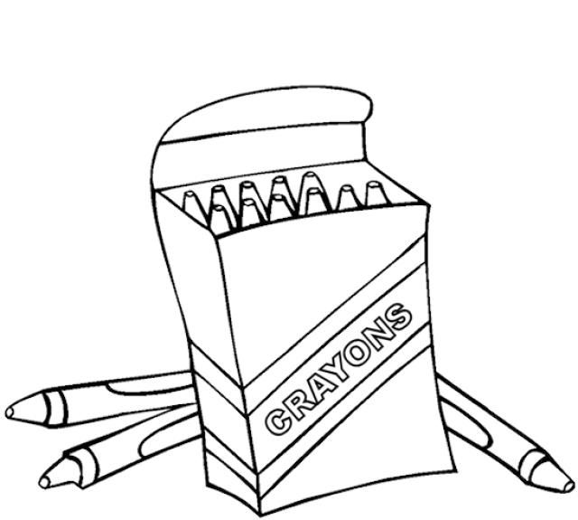 fresh crayons coloring pages for kids
