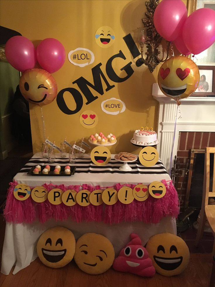 The 25 best party emoji ideas on pinterest birthday for Decoration emoji