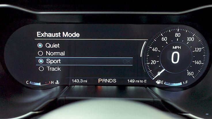 Novo Mustang virá com controle de volume do escapamento