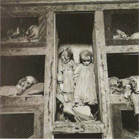mummified 3-year-old twin girls in a family crypt in Italy.