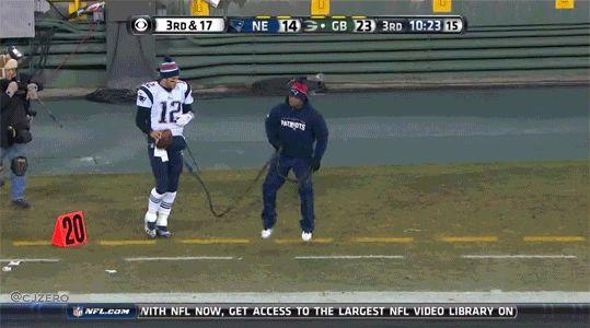 Tom Brady Walk.gif