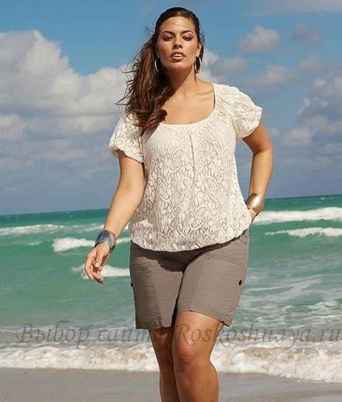 Пляжные шорты для полных женщин