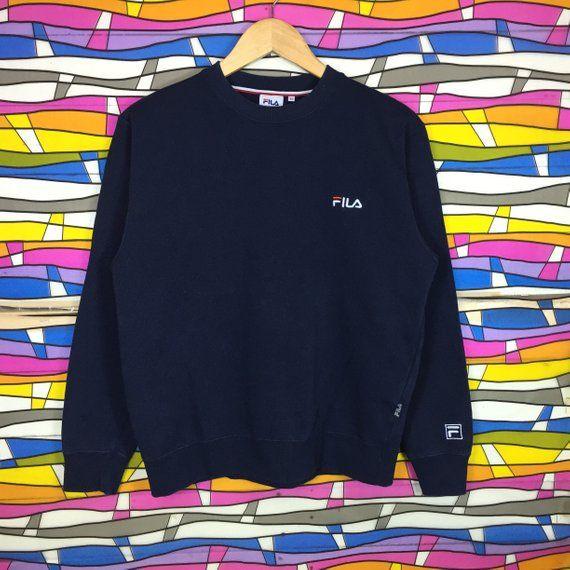 2e0e4a7d593c Rare Fila Small Logo Embroidery Sweatshirt clothing jumper