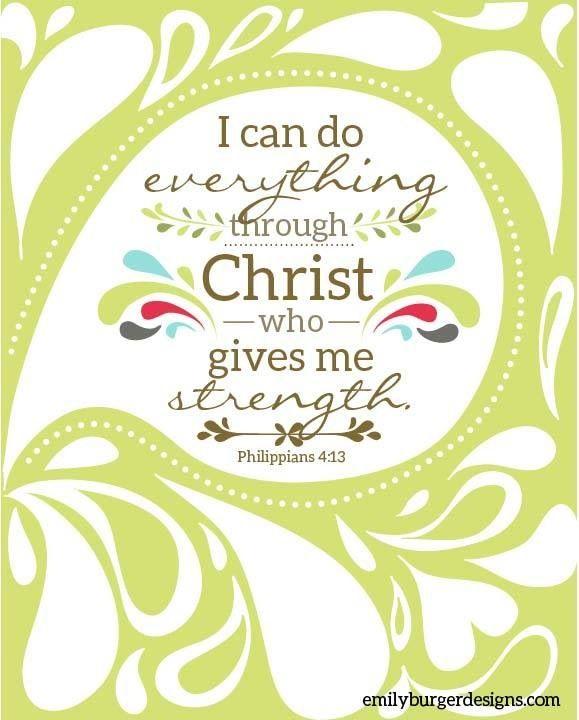 Christ gives me strength #Scripture http://carolynhughesthehurthealer.com/