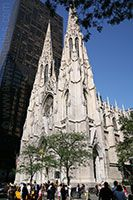 """St. Patrick's Cathedral, situated on posh Fifth Avenue near Rockefeller Center, is actually the """"new"""" St. Patrick's. The original church opened in 1815 on Mulberry Street in lower Manhattan. During the next several decades, the Catholic population of New York City continued to rise, and in 1853, Archbishop John Hughes declared that the city's faithful should have a new place to worship."""
