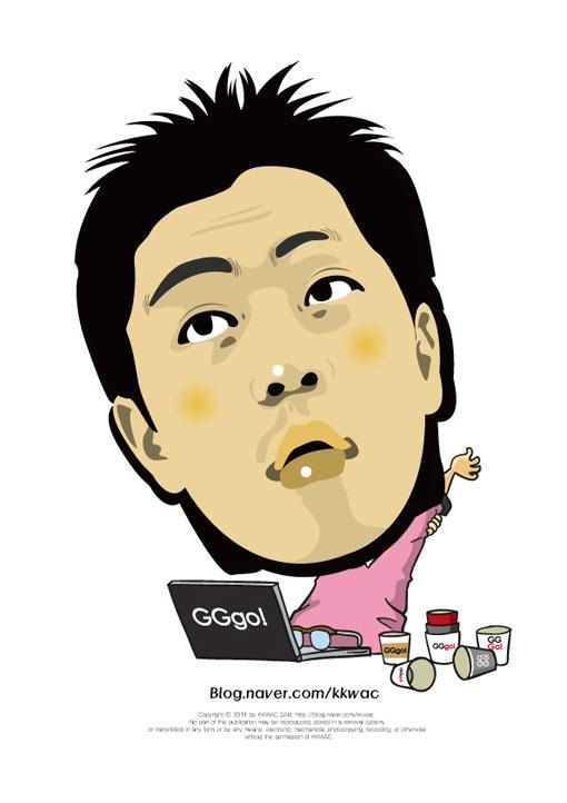 다른 생각이죠, 다르게 생각해야 합니다.    꽉샘의 캐리커쳐 인물열전(021) 지지고 정호열 대표 Mr. Jung Ho Yeol