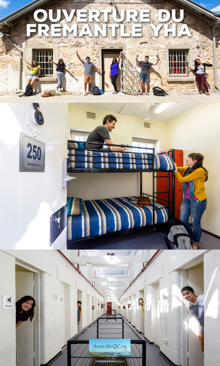 Oseriez-vous passer la nuit dans une prison? C'est exactement ce qui est proposé au tout nouveau Fremantle YHA, dans l'État du Western Australia, en Australie. À découvrir!