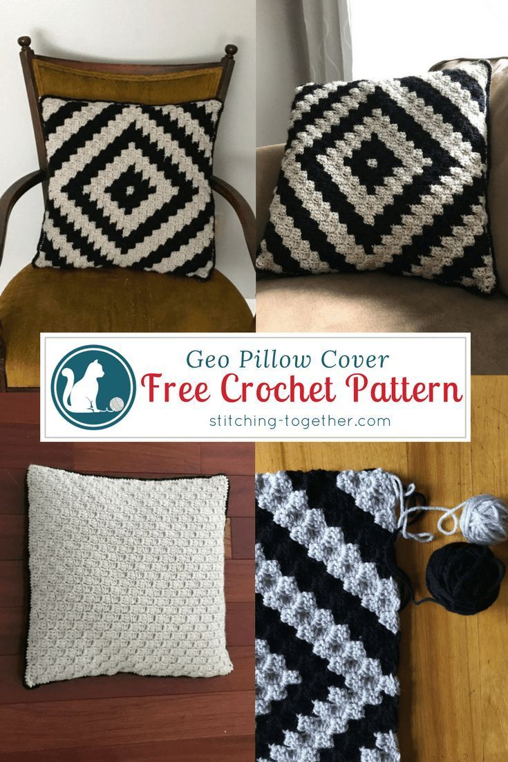 Free crochet pattern for a beautiful and trendy pillow cover easy corner to corner