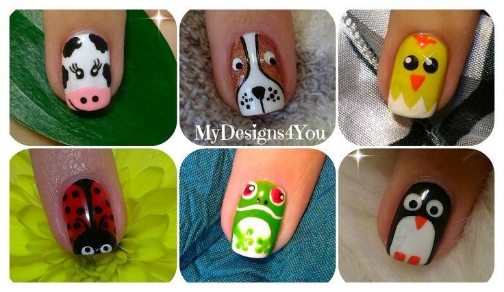 Animal Nail Art Vol.1 | Diseño de Uñas, Animales ♥ Дизайн Ногтей - Животные