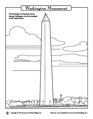 Washington Colouring Pages And Monuments On Pinterest