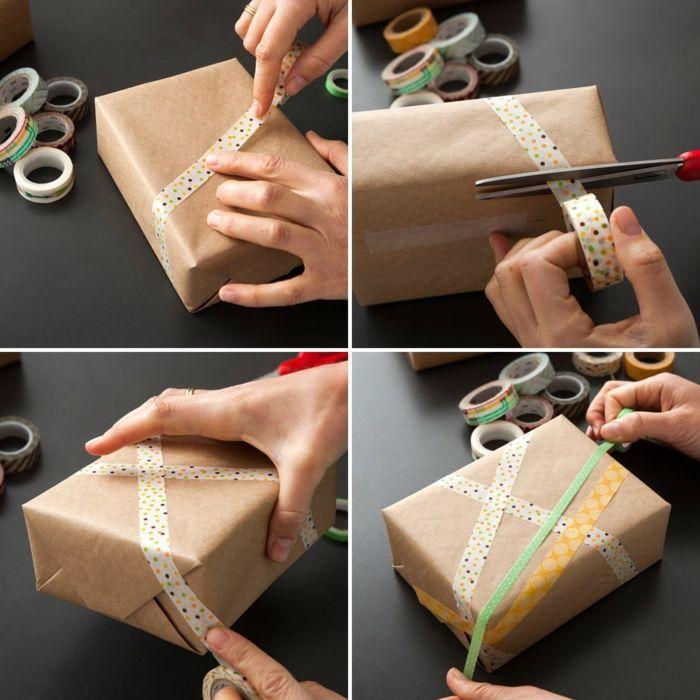 Papier cadeau kraft : 75+ idées pour un emballage cadeau de Noël