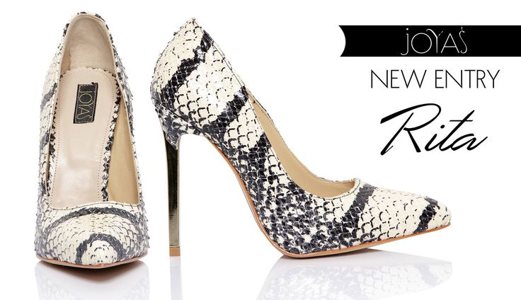 The Rita high heels with snakeskin are a luxury pair of women's shoes @j