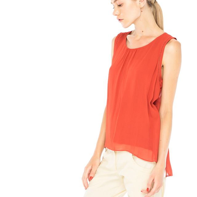 uma and leopold / Sweet Romance Top in Terracota Look available at stores and online shop: www.umaandleopold.com