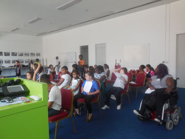 Participants learning the script of Kick It