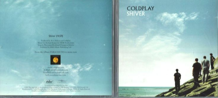 1 CENT CD: COLDPLAY ( SINGLE SHIVER) 2000 PROMO CAPITOL
