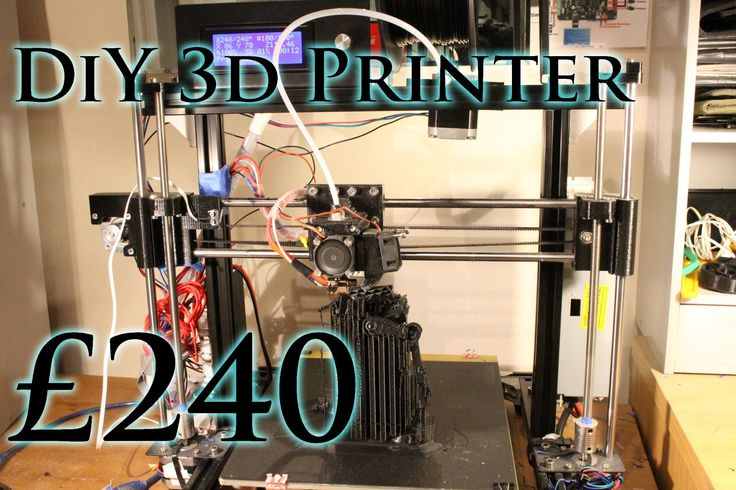 Homemade 3d Printer for £240 - RepRap Prusa i3