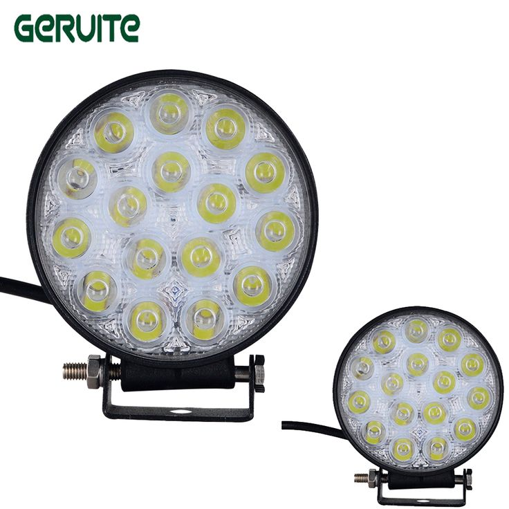==> [Free Shipping] Buy Best 4Pcs 48W 12V 24V LED Work Light Spot/Flood Round LED Offroad Light Lamp Work light for Off road ATV Motorcycle headlight Online with LOWEST Price | 32522192283