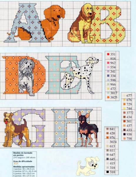 Dogs Alphabet 1