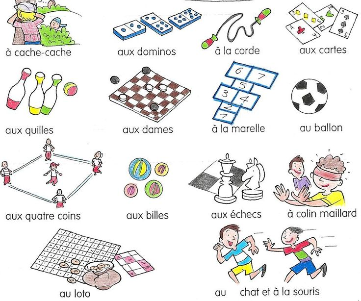 french vocabulary - games