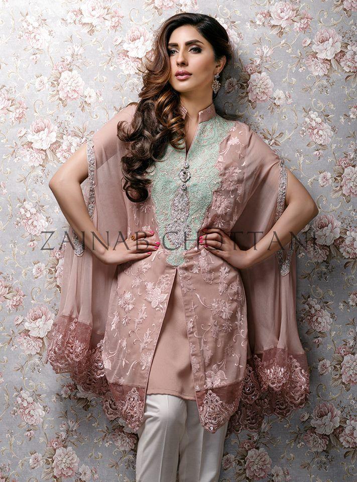 Latest Pakistani Cape Style Dresses 2016-2017 Designer Collection | BestStylo.com