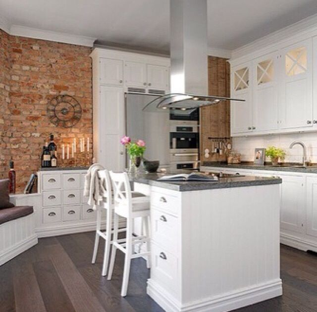 White Kitchen Exposed Brick 16 best exposed brick wall in rooms images on pinterest