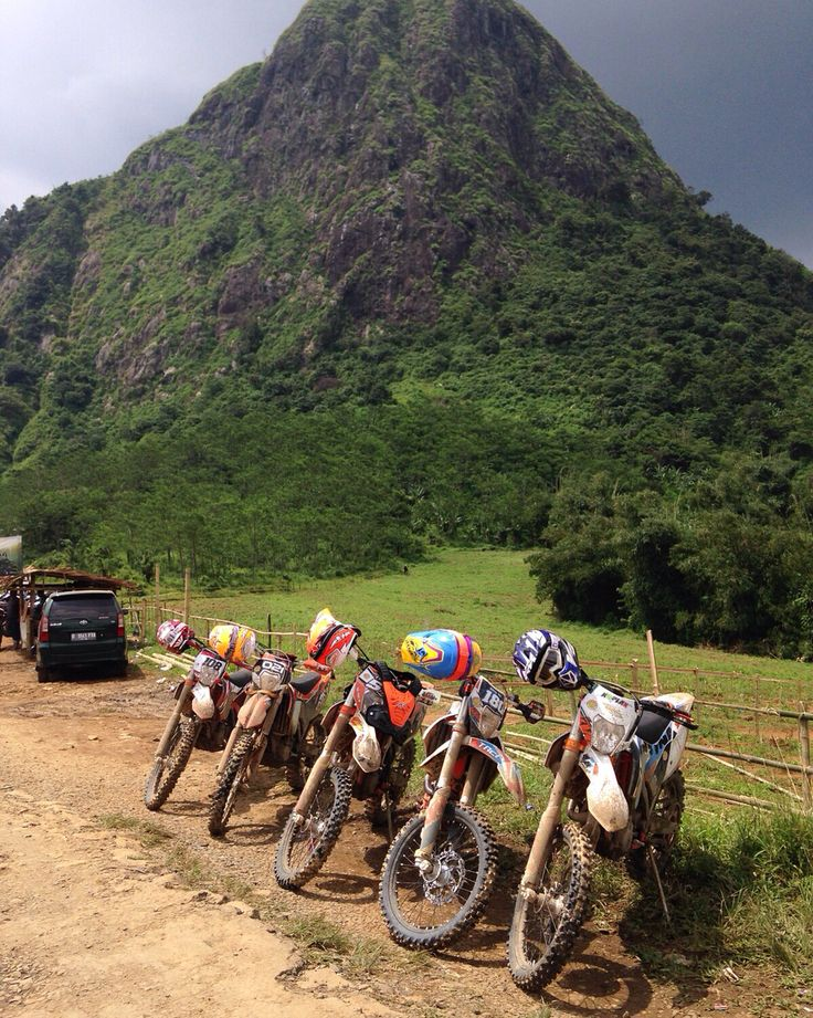 Dirty motorbike so beautiful at gunung batu jonggol, bogor jawa barat Indonesia