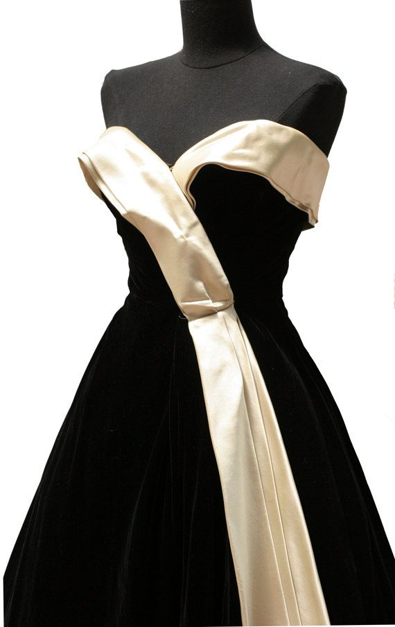 black and white - vintage dior  I wanted this then and still do!