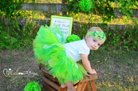 Fairy Tinkerbell tutu Baby Tutu photo Prop Tutu by ChicSomethings
