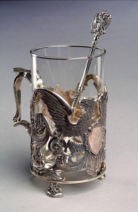 Poirot's Tisane Glass and Holder
