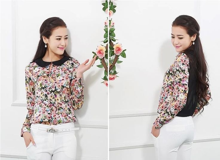 Flowers print blouse