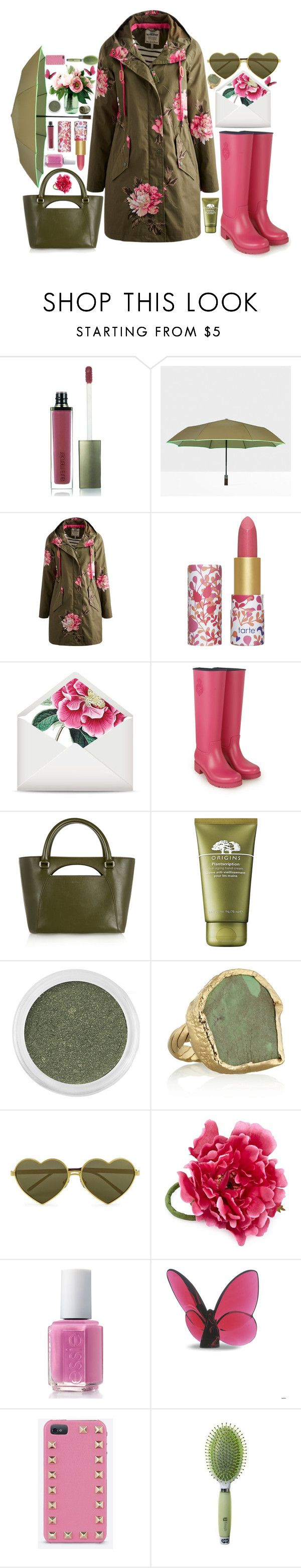 """Peonia"" by living-colorfully ❤ liked on Polyvore featuring Laura Mercier, Hunter, Joules, tarte, Polo Ralph Lauren, J.W. Anderson, Origins, Bare Escentuals, Dara Ettinger and Wildfox"