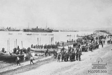 Practicing in Greece before the real Gallipoli landing- which didn't go quite so well- April 1915