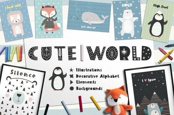 Cute World by Good Genie on @creativemarket