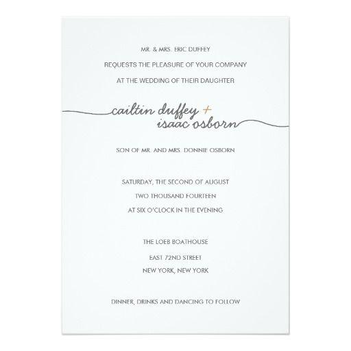 296 best classic wedding invitations images on pinterest classic simply elegant gold wedding invitation stopboris Choice Image