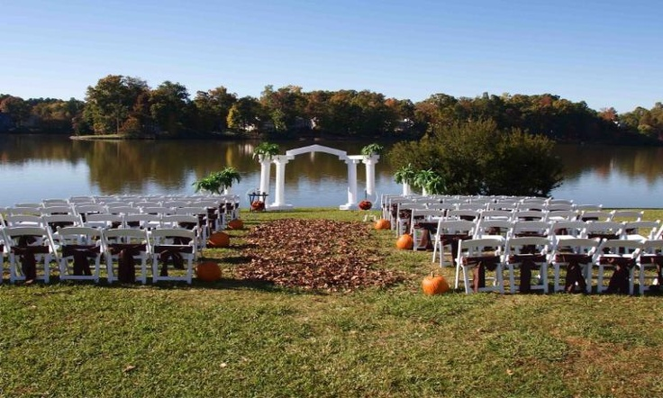 outdoor lake wedding