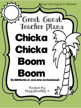Emergency Sub Plans or Great Guest Teacher Plans for Chicka Chicka Boom Boom - looks totally doable for early Kindergarten when it's so hard if you have to be out