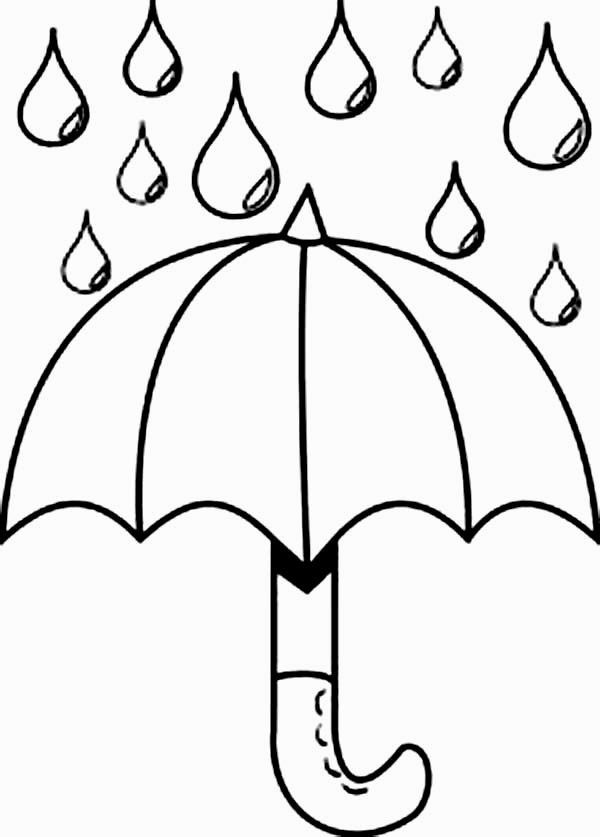 raindrops coloring pages for toddlers | Deštník | Podzim | Coloring pages, Coloring for kids ...