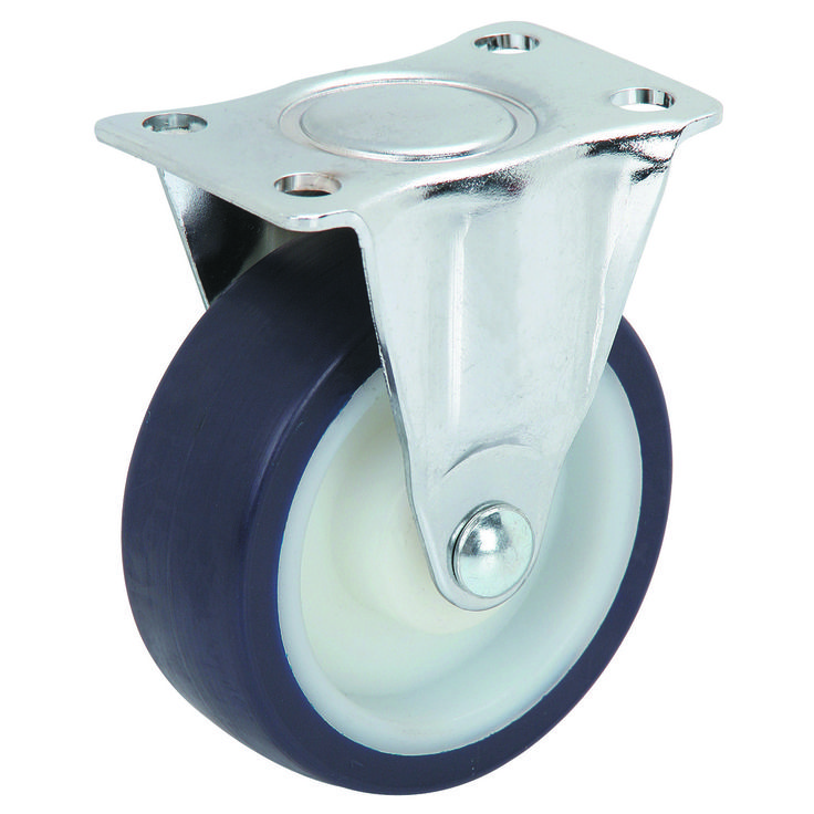 3 in polyurethane rigid caster with images swivel