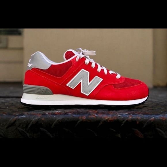 Red New Balances Red New Balances New Balance Shoes Athletic Shoes