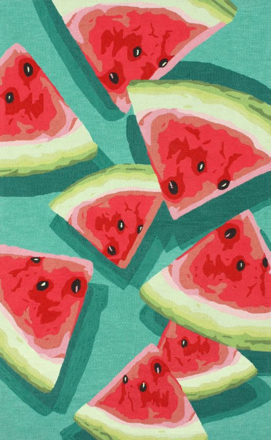 Hand Hooked Rug With A Watermelon Slice Motif. Cute And I So Love Watermelon .