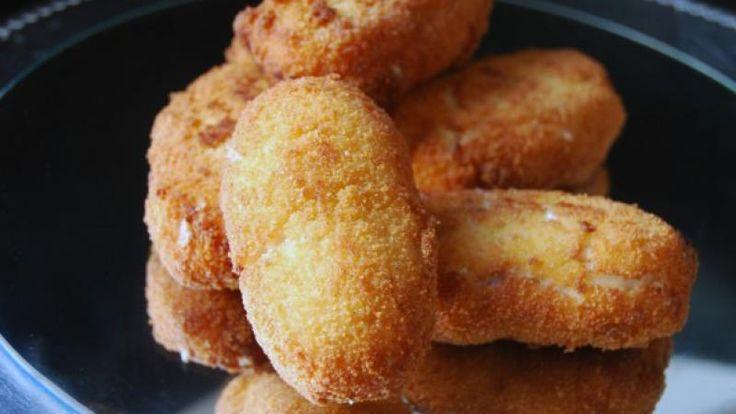Receta de Croquetas de jamón y pollo muy jugosas | Cocina Familiar