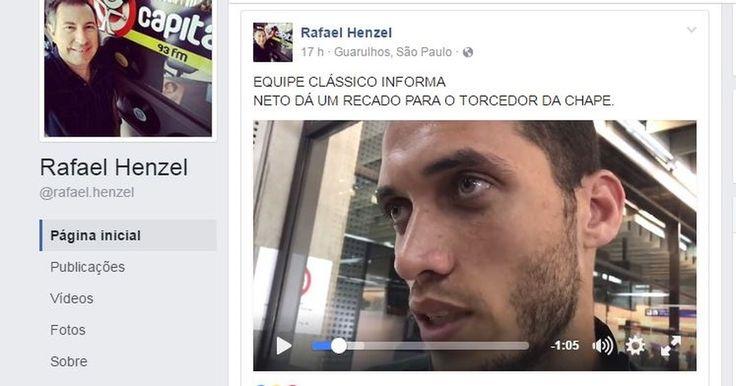 Jornalista Rafael Henzel sobrevive a queda de avião da Chapecoense