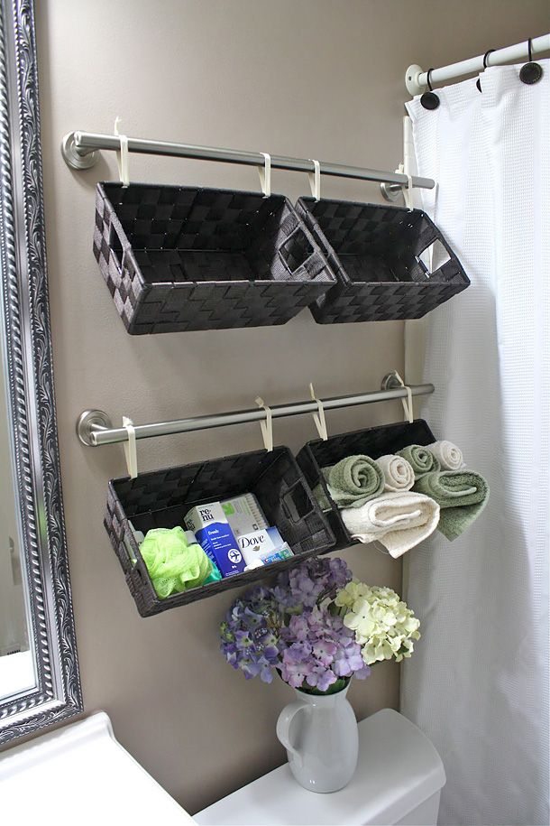 organizing with baskets - Bathroom Baskets