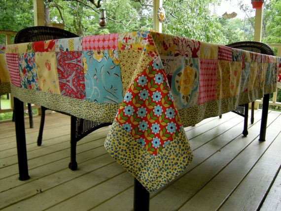 Cotton Tablecloth 59X91 inches  Made up of six by Cake4Breakfast, $128.00. How…