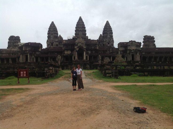 Exploring ancient ruins in Cambodia. Angkor Wat