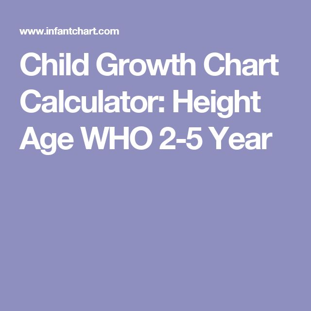 Child Growth Chart Calculator: Height Age WHO 2-5 Year