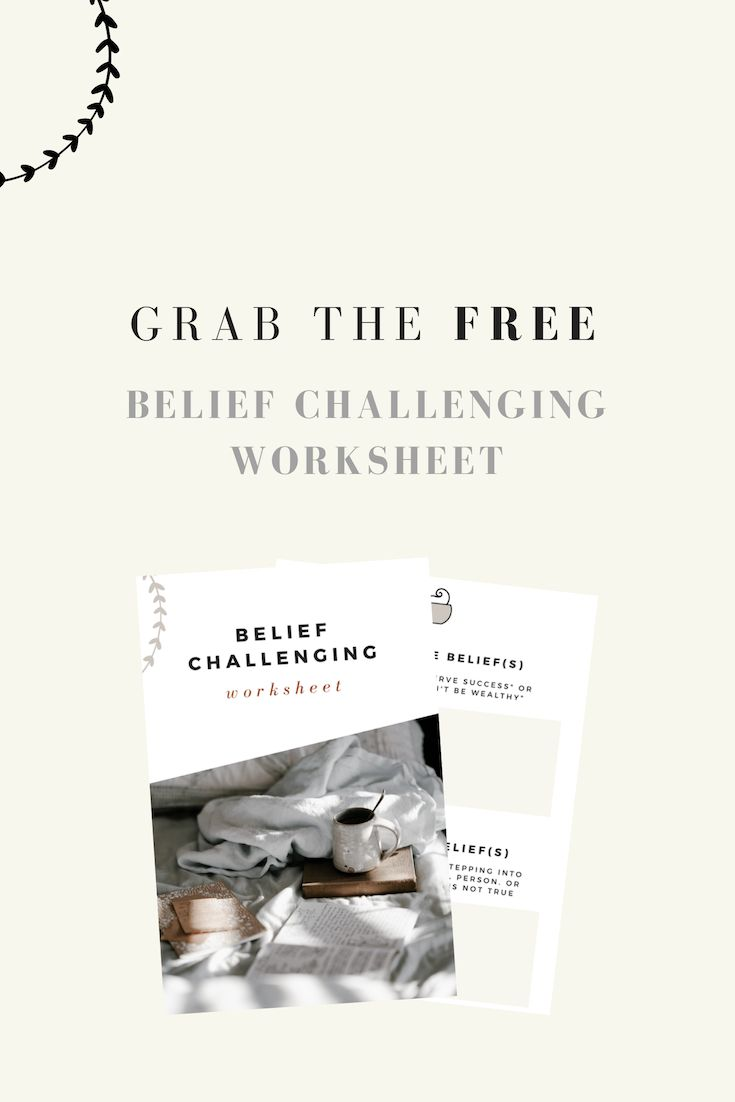 Challenge and replace limiting beliefs. Grab the free