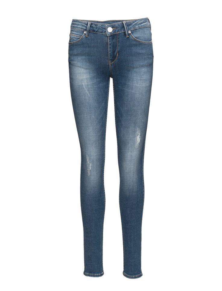 DAY - 2ND Sally Retro Distressed elements Fading Logo detail Slight stretch Classic 5 pocket styling Skinny fit Jeans