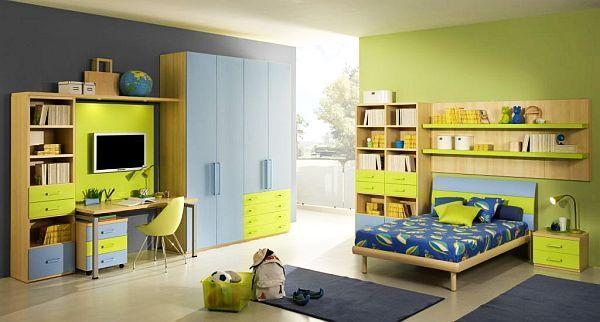 gelb-grüne-Einrichtung-Jugendzimmer