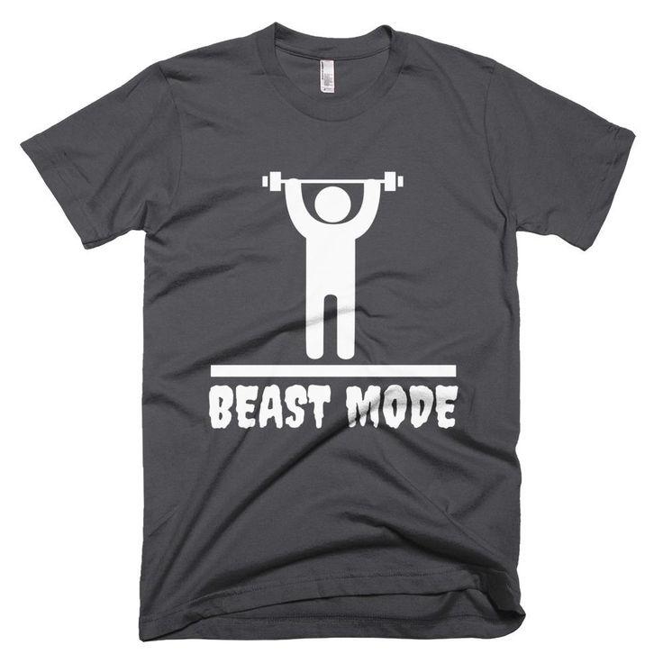 Men Graphic Print Beast Mode Short Sleeve T-Shirt - 4 Colors